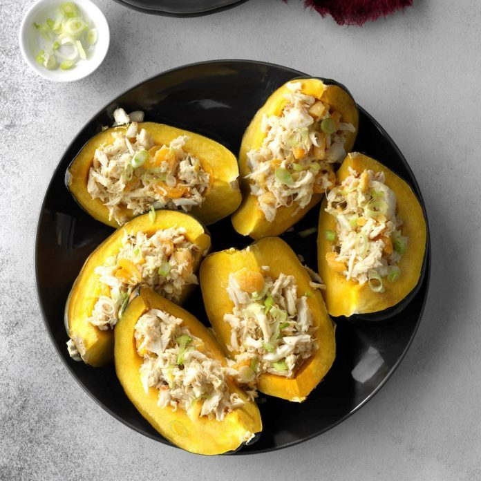 Day 8: Apricot Crab Stuffed Acorn Squash