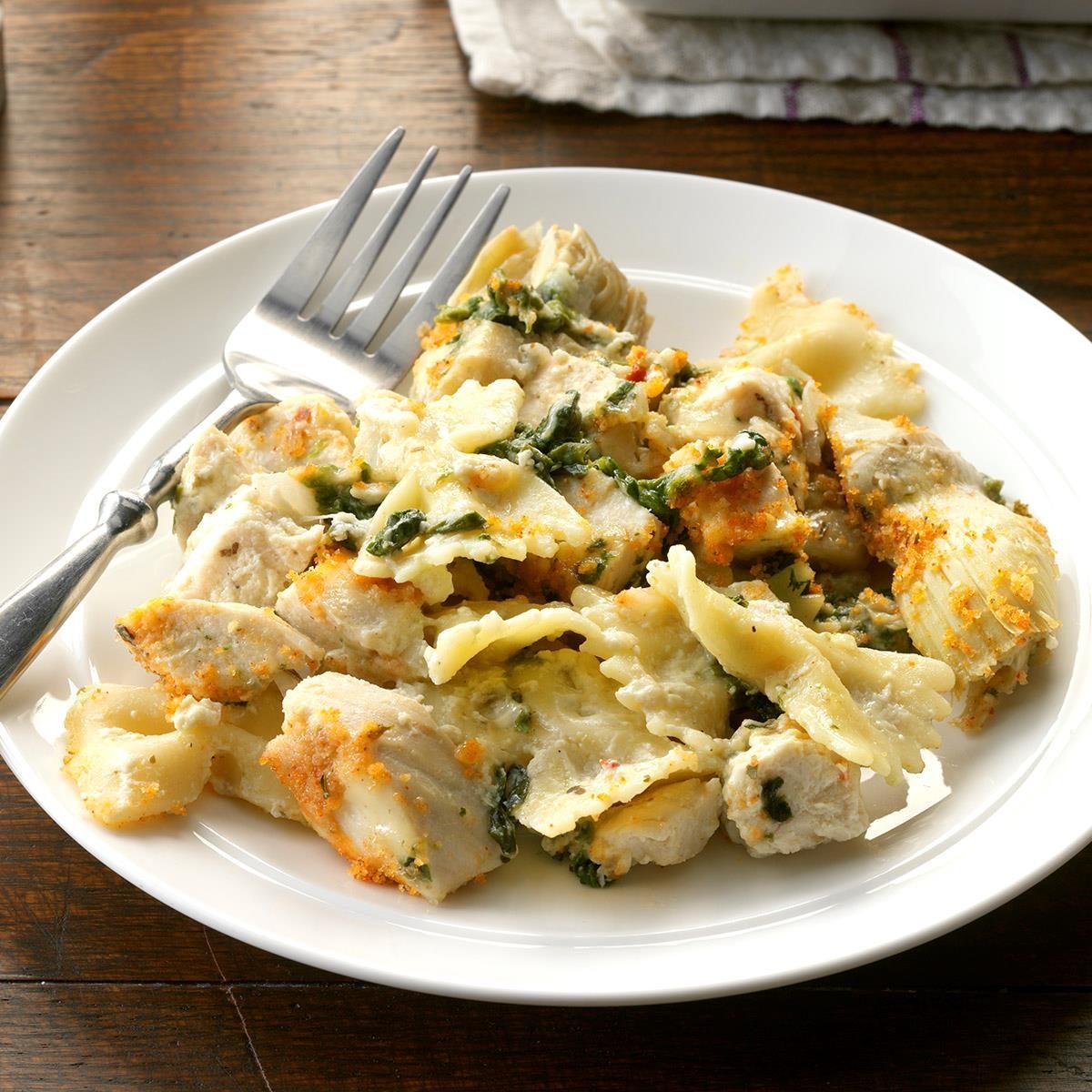 Artichoke & Spinach Chicken Casserole Recipe