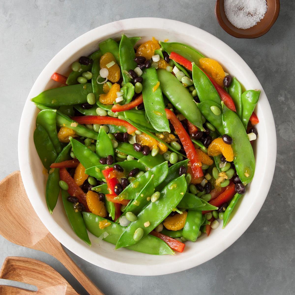 Asian Snow Pea Toss Recipe Taste Of Home