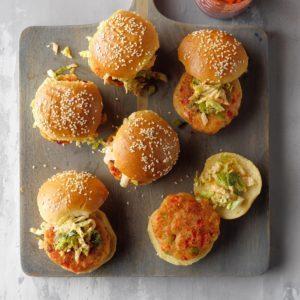 Bang Bang Shrimp Cake Sliders
