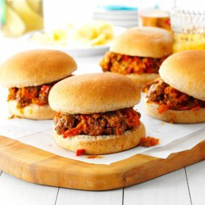 Pressure-Cooker Beef and Veggie Sloppy Joes