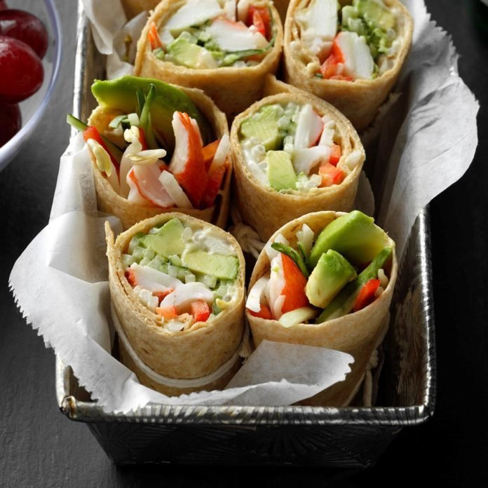 Wrapped California Rolls