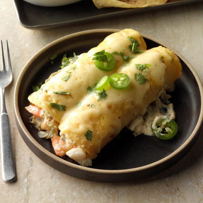 Runner Up: Cheesy Seafood Enchiladas