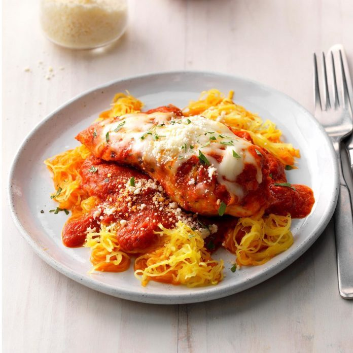 Chicken Parmesan With Spaghetti Squash