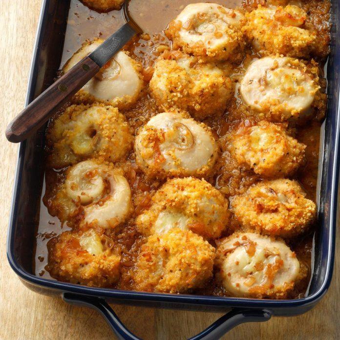 December 8: Chicken-Prosciutto Pinwheels in Wine Sauce