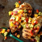 Chicken with Peach-Avocado Salsa