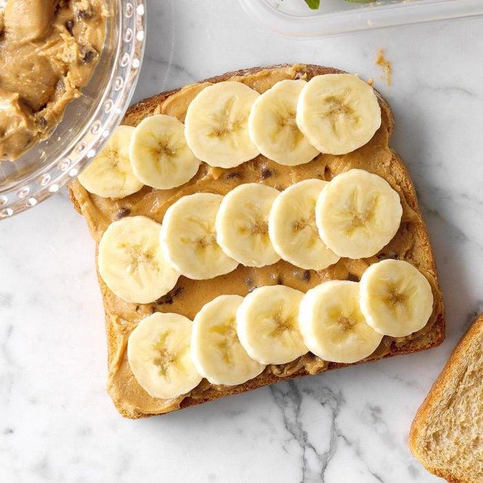 Chocolate chip PB banana sandwich