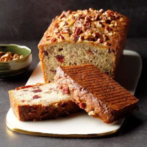 Double Cranberry Banana Bread