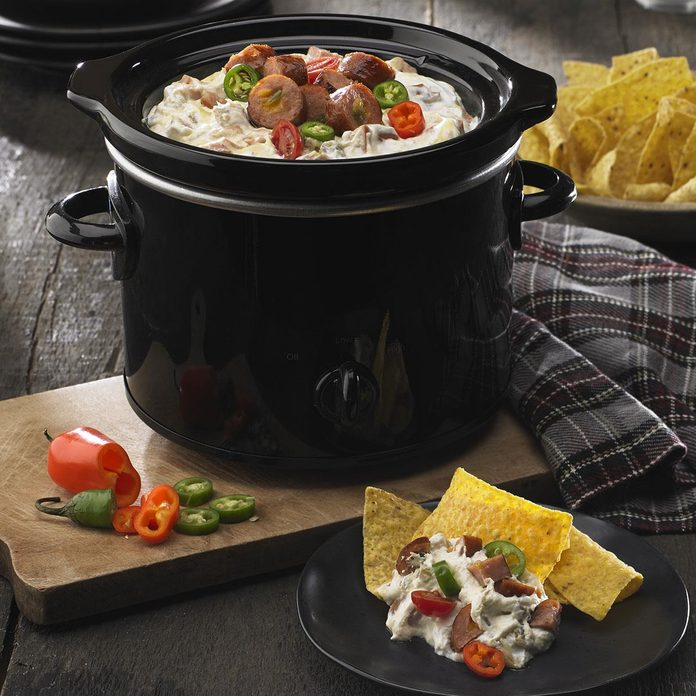 Queso Blanco & Black Bean Slow Cooker Dip