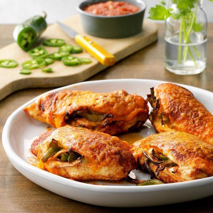 Air Fryer Fajita-Stuffed Chicken