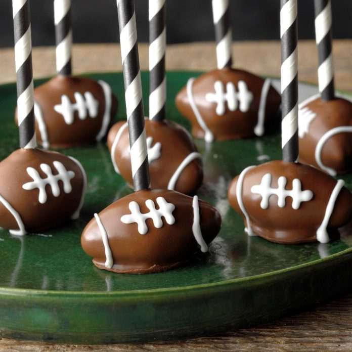 Sports Fanatic Lunch: Football Cake Pops