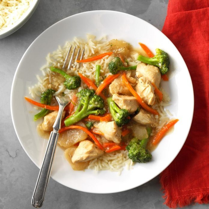 Pressure Cooker Garlic Chicken and Broccoli