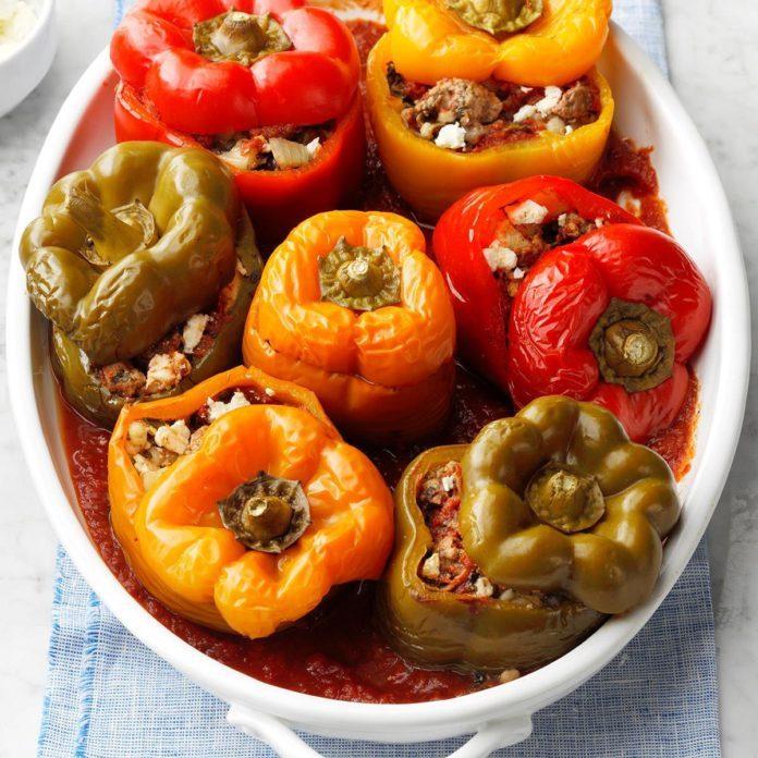 February 13: Greek-Style Stuffed Peppers