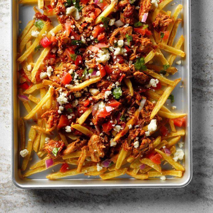 Green Chili Adobado Poutine Recipe | Taste of Home