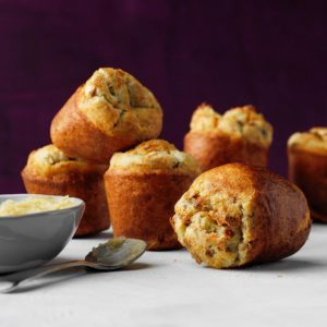 Lemon Popovers with Pecan Honey Butter