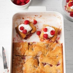 Lemon Raspberry Buckle