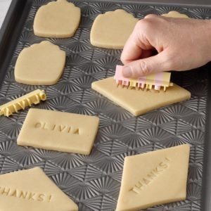 Letter-Stamped Butter Cookies