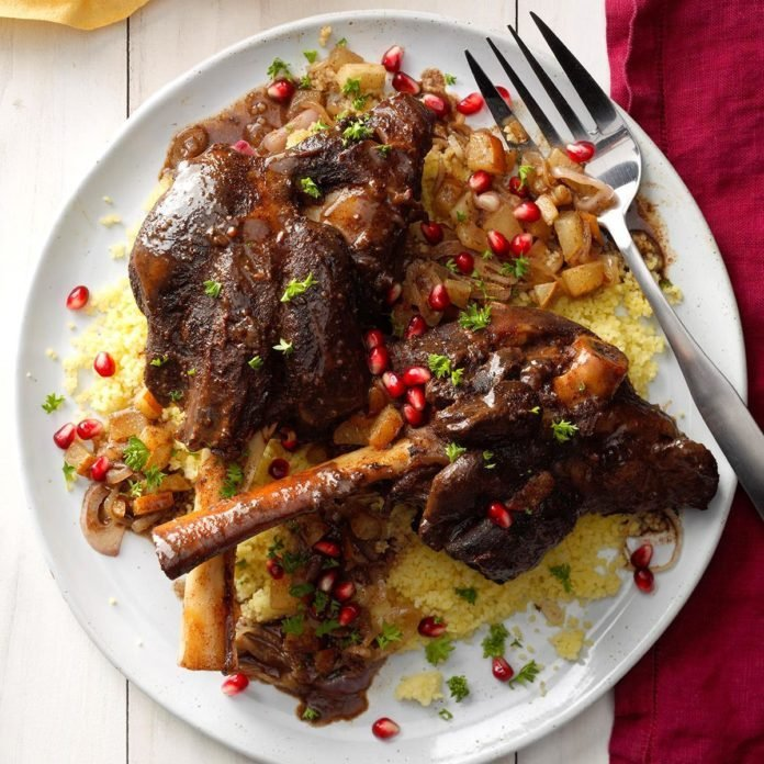 Pear and Pomegranate Lamb Tagine