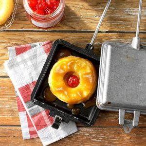 Campfire Pineapple Upside-Down Cakes