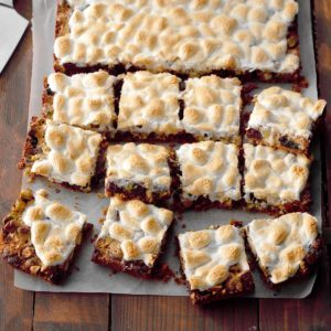 Pistachio-Cherry S'more Bars