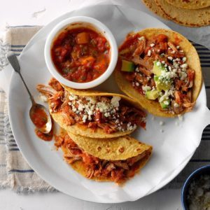 Pressure Cooker Pork Tacos with Mango Salsa
