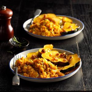 Pressure Cooker Curried Pumpkin Risotto