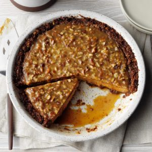 Praline Pumpkin Pecan Pie