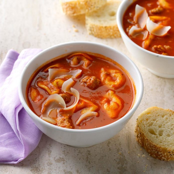 Runner Up: Quick Sausage Tortellini Soup