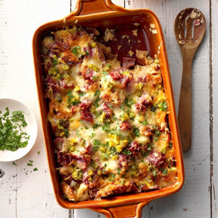 Runner Up: Reuben and Rye Strata
