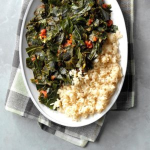 Rice with Collard Greens Relish