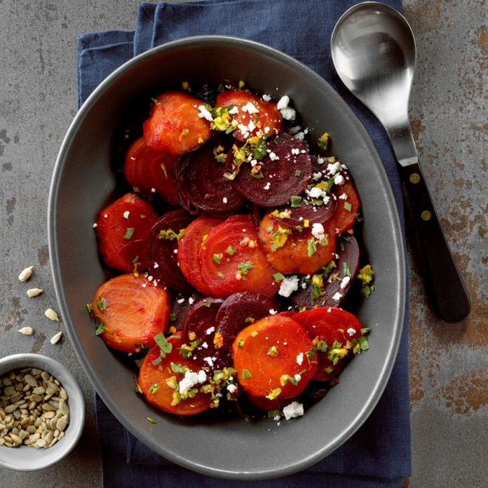 Party-Ready Side Dish: Roast Beets with Orange Gremolata and Goat Cheese