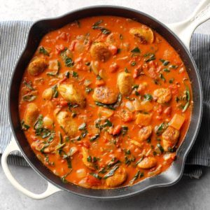 Sausage-Tomato Coconut Curry