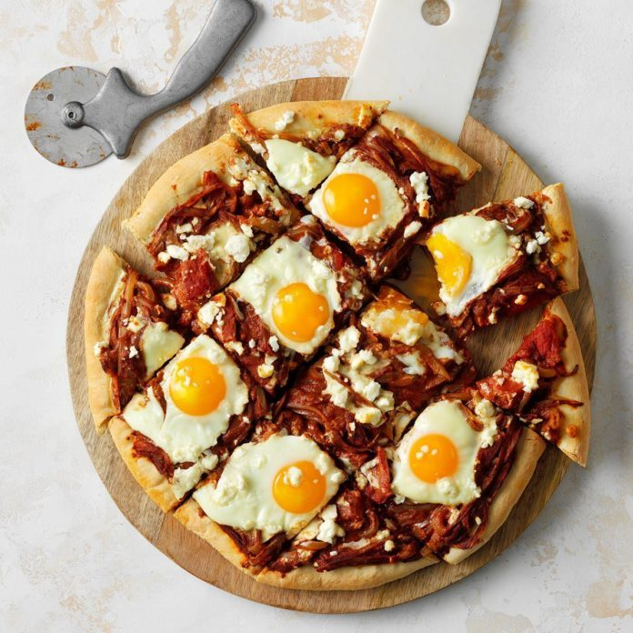 Runner Up: Shakshuka Breakfast Pizza