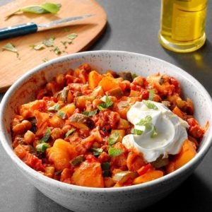 Pressure-Cooker Chickpea Tagine