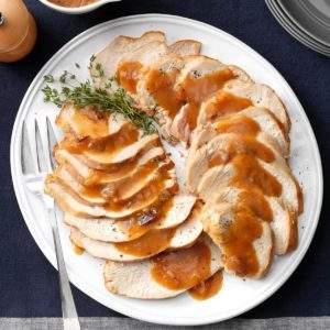 Slow Cooker Turkey Breast with Cranberry Gravy