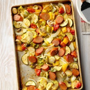 Smoked Sausage and Veggie Sheet Pan Supper
