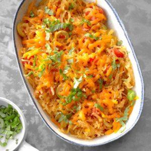 Pressure-Cooker Spaghetti Squash with Tomatoes