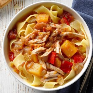 Pressure Cooker Spicy Pork and Squash Ragu