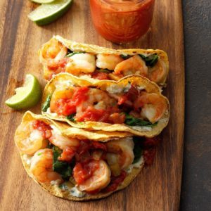 Spinach, Shrimp and Ricotta Tacos