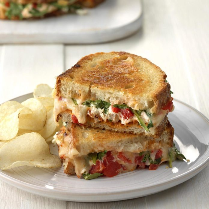Sun Dried Tomato Grilled Cheese Sandwich