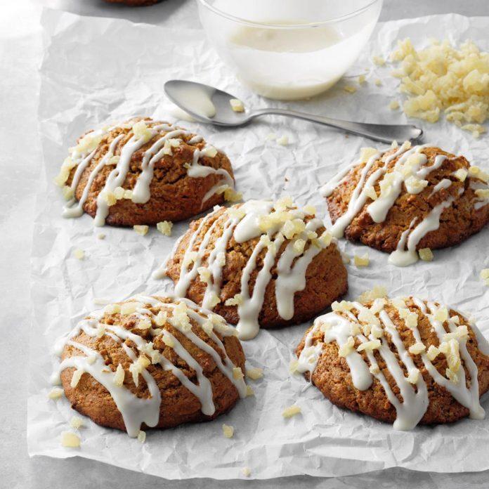 Vanilla-Glazed Ginger Scones