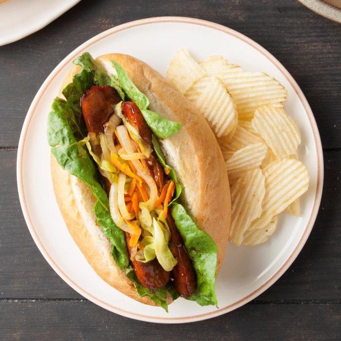 Vietnamese Chicken Banh Mi Sandwiches