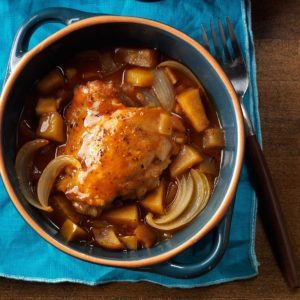 Pressure Cooker Autumn Apple Chicken
