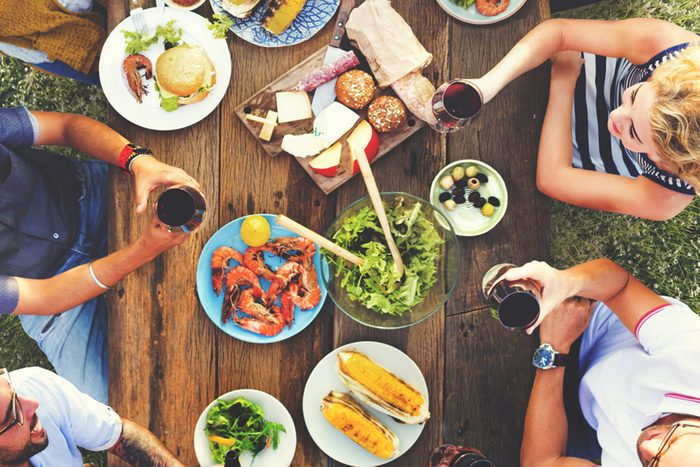 family reunion picnic table