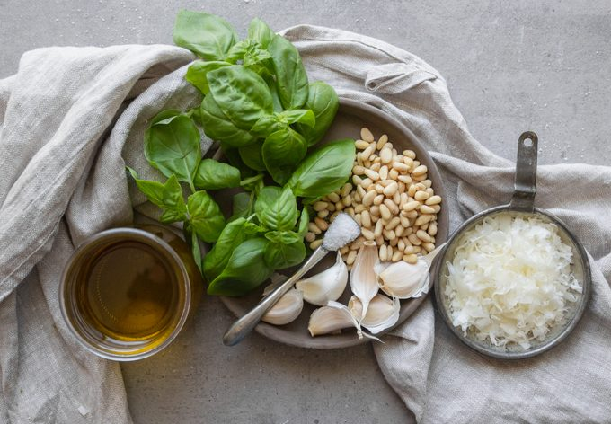 how to make pesto Basic Pesto Ingredients