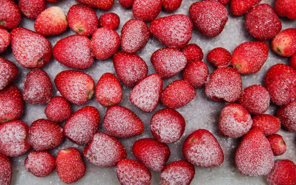 Frozen strawberries; Shutterstock ID 493556416