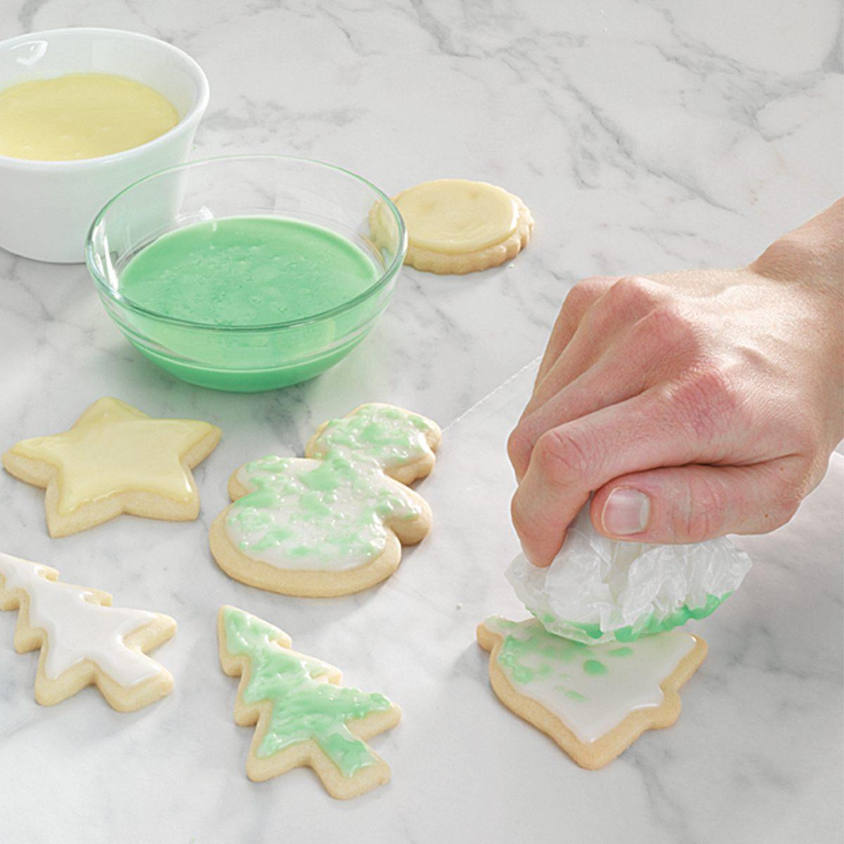 Marbling cookie decorating