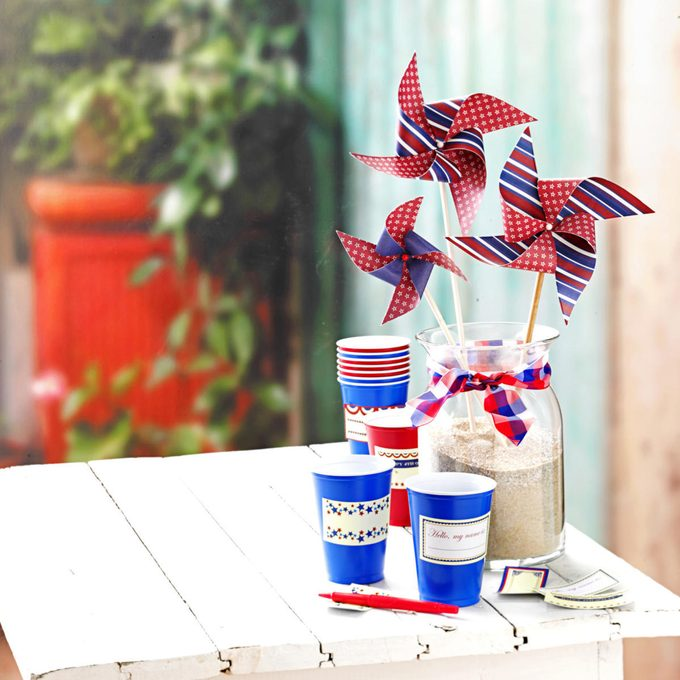 Pinwheel craft party idea for 4th of July