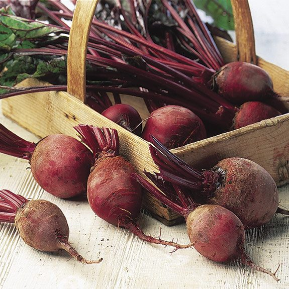 a basket of beets