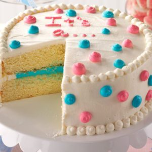 This Gender Reveal Cake Will Be the Centerpiece of Your Baby Shower